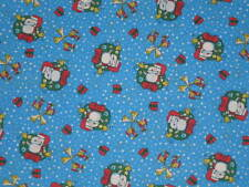 "PEANUTS SNOOPY ""JUNGLE ALL THE WAY"" CHRISTMAS   FABRIC  SOLD BY THE  YARD"