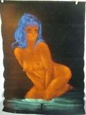 Vietnam Painting on Velvet Nude, Original Early 70's