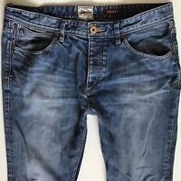 MENS SUPERDRY Standard Skinny Faded  Blue JEANS SIZE W36 L34 (342)