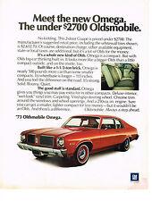 Vintage 1973 Magazine Ad Oldsmobile Omega New Kind Of Olds Good Stuff Standard