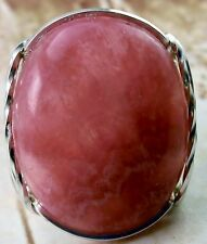 Genuine Bold Rhodochrosite Sterling Silver Ring #2
