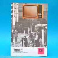 Fernsehtischgerät Visomat 211 DDR 1974 61-Röhre Folleto Publicidad Dewag F58 B