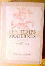 LES TEMPS MODERNES classe de 4ème - 1946