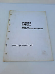 Vintage New Holland 469 Haybine Mower Conditioner Owners Manual