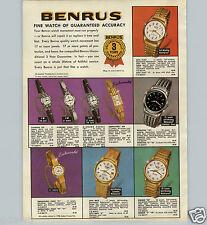 1963 PAPER AD 4 PG Benrus Wrist Watch Citation Calendar Star Huch Martrin Jet