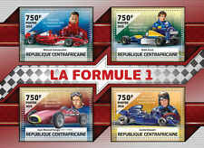 Central African Rep 2016 MNH F1 Formula 1 Schumacher Prost Fangio 4v M/S Stamps