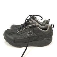 C12 Men's Skechers Sport Shape Ups Shoes Size 12 Wide Black 50875EW Lace Leather
