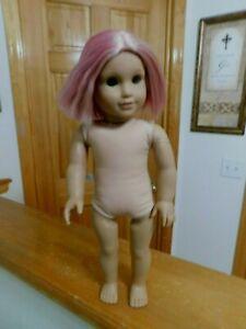 """American Girl Pink Hair Julie 18"""" Doll Needs TLC Needed"""