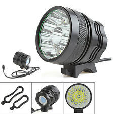 25000LM 12 x CREE XM-L T6 LED Camping 3-mode Bicycle Headlamp Torch Bike Light