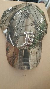 Boston Red Sox Realtree Camo Cotton Cap '47 Twins, MLB Genuine Merch, Adjustable