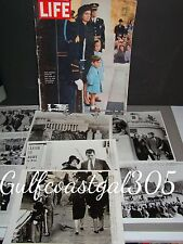 JFK JOHN KENNEDY FUNERAL 1963 LOT OF 8 UPI PRESS PHOTOS+JACKIE KENNEDY LIFE MAG