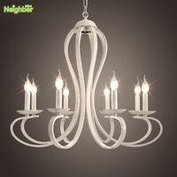 Modern Chandelier Lighting Iron Pendant Lamp Ceiling Light For Home Black White