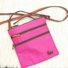 Women's Dooney & Bourke Pink Nylon Crossbody Bag!