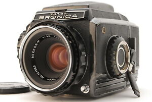 *NEAR MINT* Zenza Bronica S2A Black Late Model w/ Nikkor P 75mm F/2.8 Lens#JAPAN