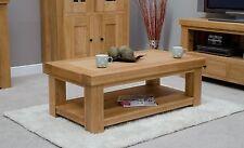 Alaska coffee table with magazine shelf solid oak living room lounge furniture