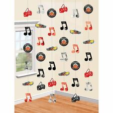 ROCK & ROLL STRINGS HANGING PARTY STRING DECORATION RECORDS DICE CAR 50'S 60'S