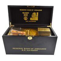 1200pcs One Hundred Trillion Dollar Zimbabwe Gold Banknote with Quality Box
