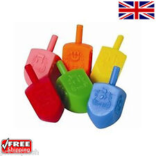 1 Hannukah DREIDEL Coloured sevivon Small Plastic Chanuka Driedel 6 Colours