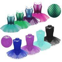 Girls Kids Ballet Leotard Dance Tutu Dress Mermaid Ballerina Dance Wear Costume
