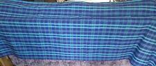Long 2.15m x 1.5m HABITAT Blue Checked 100% Cotton Tablecloth - NEW