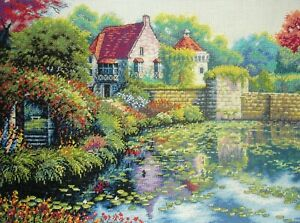 Dimensions Gold Counted Cross Stitch Unframed Tapestry Picture English Castle