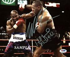 MIKE TYSON EVANDER HOLYFIELD #2 REPRINT AUTOGRAPHED 8X10 SIGNED PHOTO BOXING RP