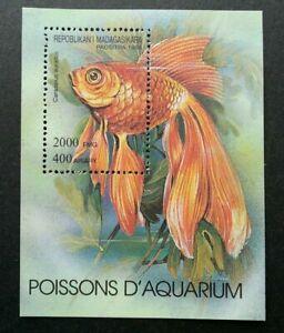 [SJ] Madagascar Aquarium Gold Fish 1994 Pets Marine Underwater Fauna (ms) MNH