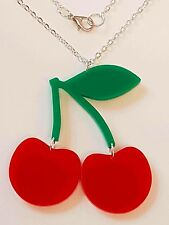 Cherries Fruity Necklace - Acrylic