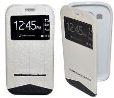 Housse Coque Etui Intelligente View Blanc pour Samsung Galaxy ALPHA