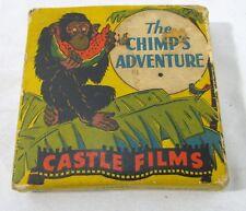 "Vintage 16 MM Film ""The Chimp's Adventure"" Headline Edition Castle Films in Box"