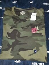 NWT HOLLISTER Graphic Mens XL T-Shirt Camo Green By Abercrombie Authentic
