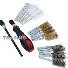 Neilsen Wire Brush Set Steel Brass & Nylon Quick Change Handle Extension   19C