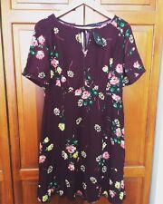 New! ATMOSPHERE Aubergine Purple 1940s Vintage Style Tea Dress - 16