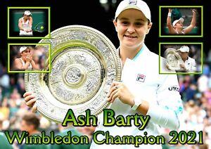 Ash Barty - Wimbledon Champion 2021 - Poster