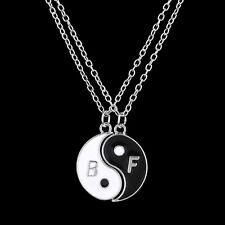 Yin y Yang 2 Pieza Colgante Collar parejas Mejores amigos BFF Regalo UK