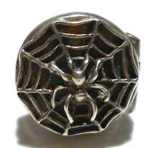 SIZE 5 DESIGNER SIGNED STERLING SILVER SPIDER & WEB POISON SMUGGLER RING