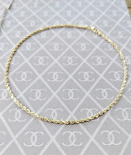 Fine 9ct Yellow Gold Rope Style Anklet / Ankle Bracelet 10″
