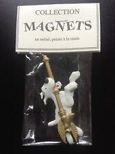 RARE plaque en métal peint Pixi Magnet Milou Sceptre Tintin ETATNEUF No émaillée