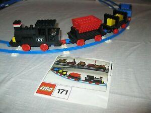 Vintage 1972 LEGO SET N°171 COMPLETE TRAIN SET WITHOUT MOTOR 100% COMPLET NOTICE
