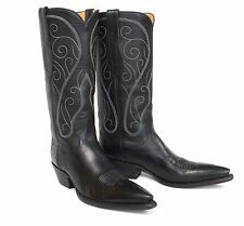 """Sexy T. O. Stanley Custom Black Cowboy Boots - Wms Size 7B 17"""" Tall - X-Toes"""