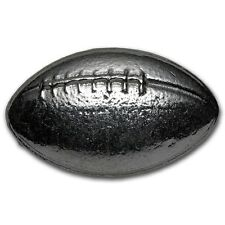 3 troy ounces of pure poured 99.9% Silver Football - 93.6 grams