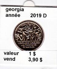 e1 )pieces de 1 dollar la dernier  georgie  2019 D