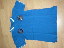 Poloshirt Shirt Gr. 122 128 blau m. Motiv 1-320