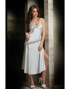 Women Top Quality Bridal White Satin Lace Nightdress  Chemise  European Products