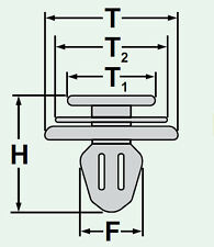 (2058/42a) 10x porta clip fissaggio klips SUPPORTO PER CITROEN PEUGEOT
