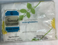 """Vintage Wamsutta Ultracale Twin Flat Sheet Floral Percale Irregulars 39""""x75"""" New"""