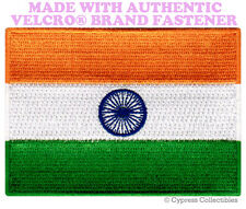 INDIA NATIONAL FLAG PATCH INDIAN EMBLEM EMBROIDERED w/ VELCRO® Brand Fastener