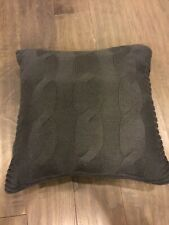 Nautica Bartlet Cable Knit Decorative Throw Pillow Grey Charcoal 15� X 15�