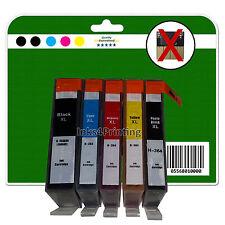 5 SIN CHIP NO OEM Cartuchos de tinta para HP C309 C309g C309h 364 x5 XL