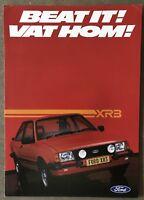 1982 Ford XR3 original South African sales brochure